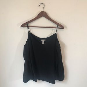 NWOT H&M Black Cold Shoulder Long Sleeve Blouse